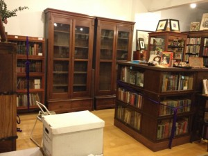 A pair of new (old) bookcases! A perfect fit!